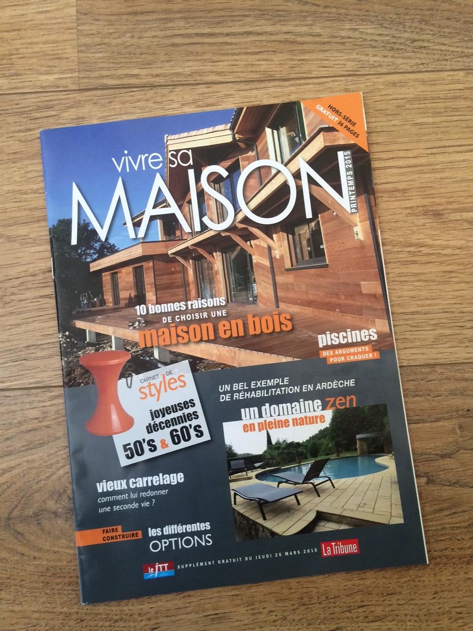 article dans vivre sa maison hors s rie de mars 2015 du. Black Bedroom Furniture Sets. Home Design Ideas