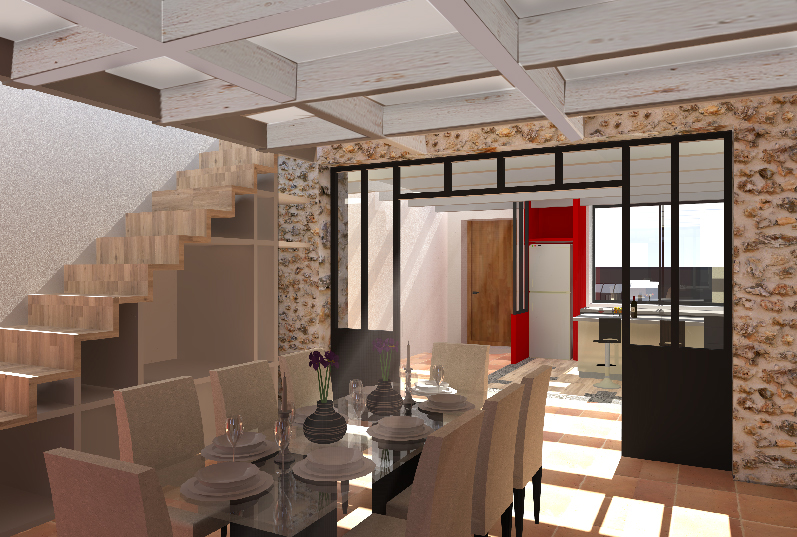 Amenagement interieur maison brillant amenagement for Amnagement maison 3d