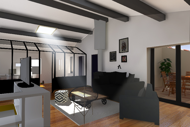Am nagement int rieur d 39 une maison de village projets d for Amenagement interieur maison