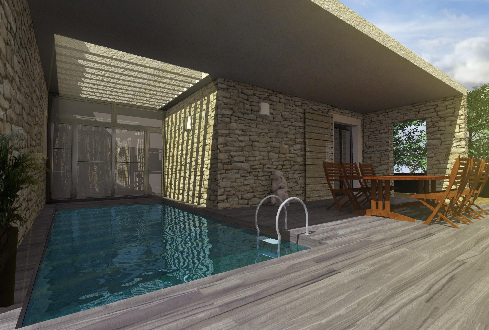 Cout d une piscine couverte construction d 39 une for Cout construction villa