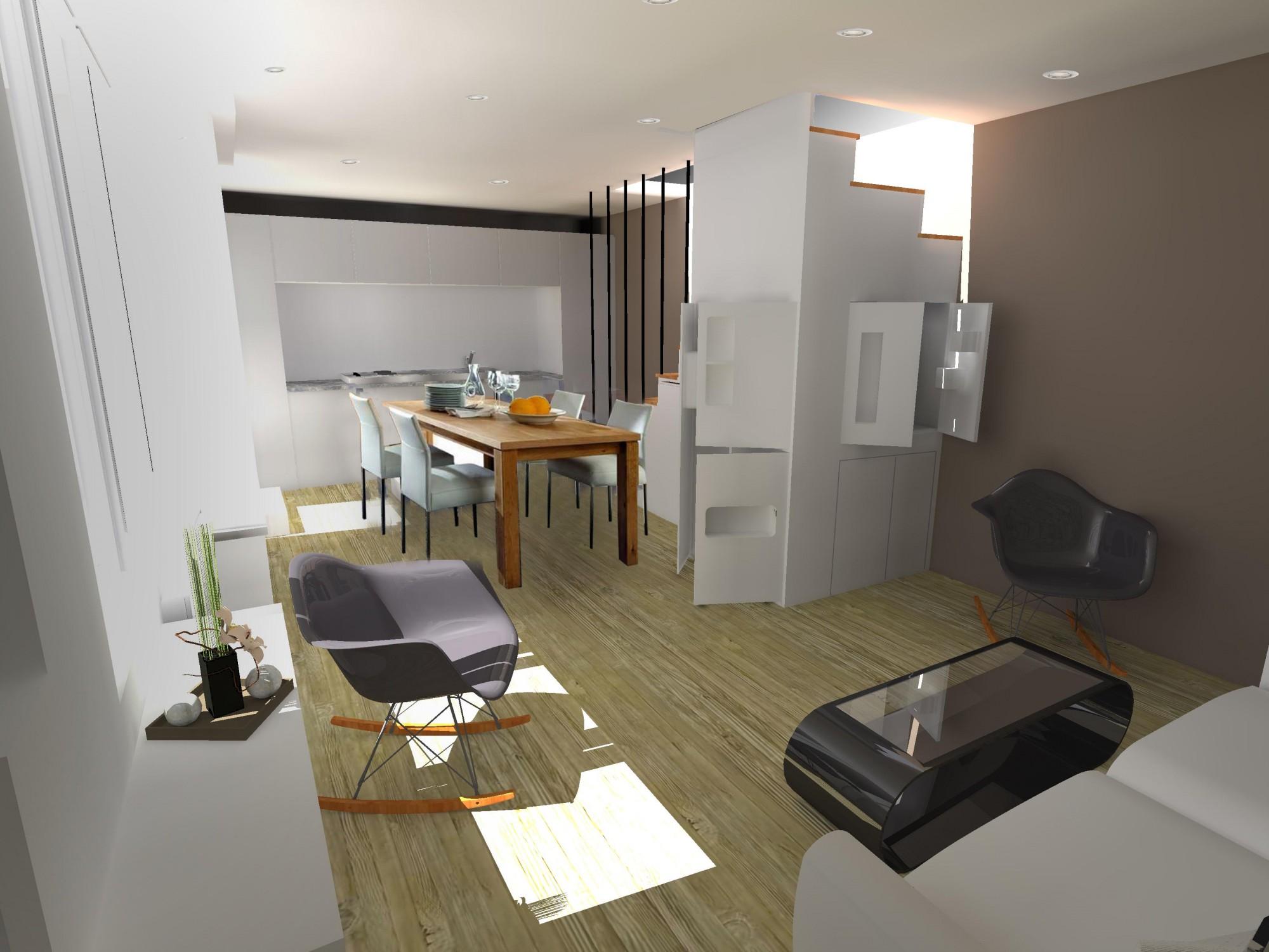 Escalier appartement banques de pierre grise escalier - Appartement duplex alvhem makleri goteborg ...
