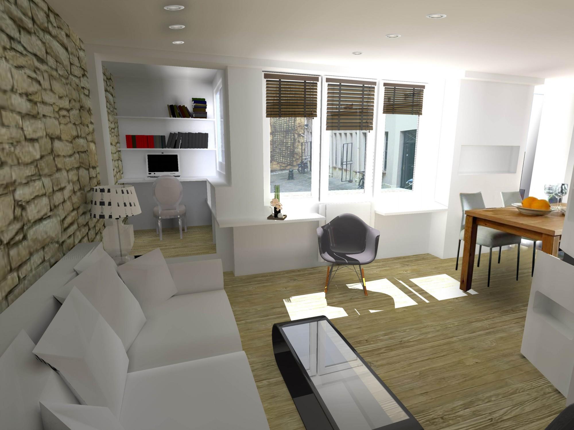 am nagement d 39 un appartement autour de l 39 escalier levallois perret hauts de seine. Black Bedroom Furniture Sets. Home Design Ideas