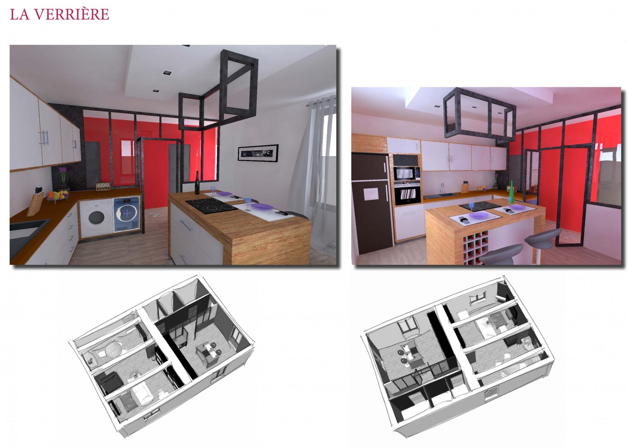 Amnagement d une cuisine gallery of amnagement du0027une - Meuble cuisine en kit ...